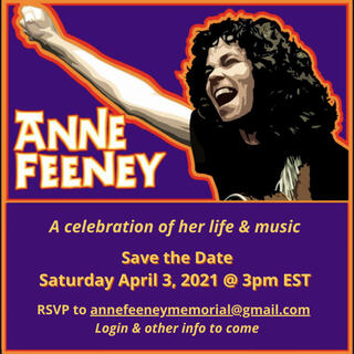 Anne Feeney Save the Date